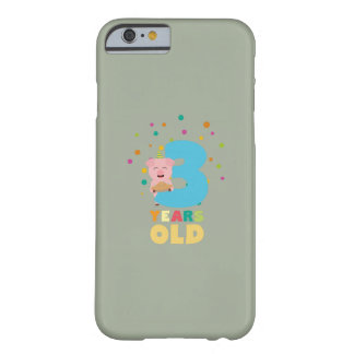 Three Years third Birthday Party Z9hyc Barely There iPhone 6 Case