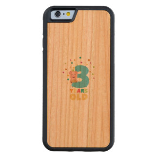 Three Years third Birthday Party Z9hyc Carved Cherry iPhone 6 Bumper Case