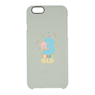 Three Years third Birthday Party Z9hyc Clear iPhone 6/6S Case