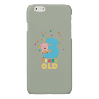 Three Years third Birthday Party Z9hyc Glossy iPhone 6 Case