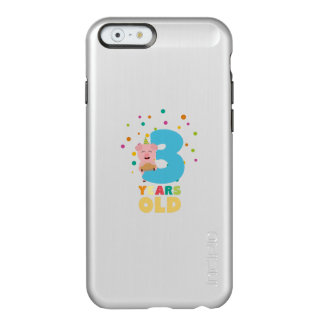 Three Years third Birthday Party Z9hyc Incipio Feather Shine iPhone 6 Case