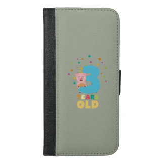Three Years third Birthday Party Z9hyc iPhone 6/6s Plus Wallet Case