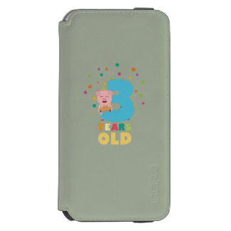 Three Years third Birthday Party Z9hyc iPhone 6/6s Wallet Case