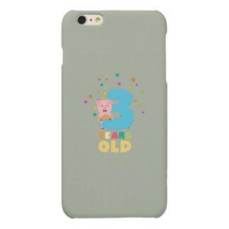 Three Years third Birthday Party Z9hyc Matte iPhone 6 Plus Case