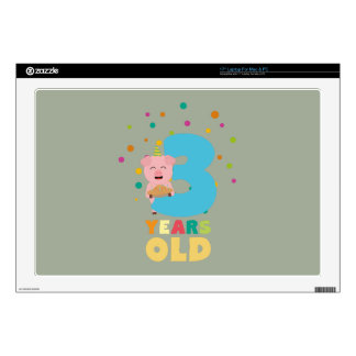 Three Years third Birthday Party Z9hyc Skin For Laptop