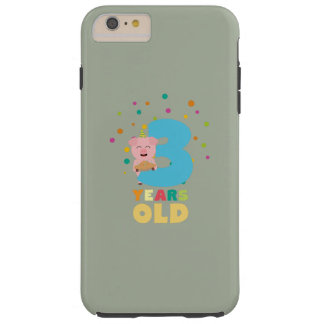 Three Years third Birthday Party Z9hyc Tough iPhone 6 Plus Case