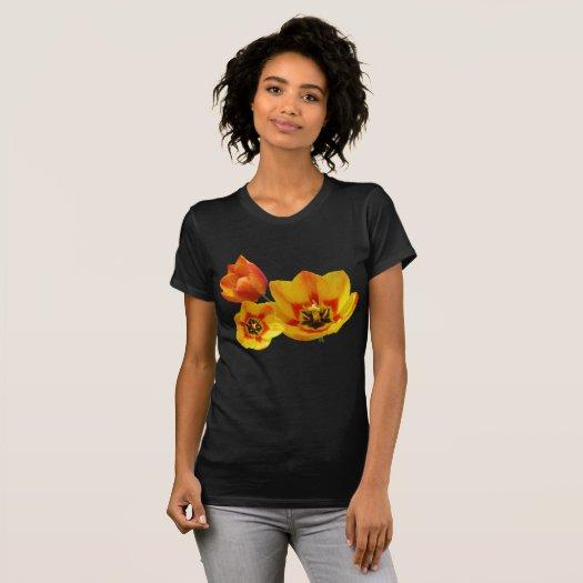 Three Yellow and Orange Tulips Womens App. T-Shirt