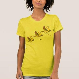 Three Yellow Birds T Shirt