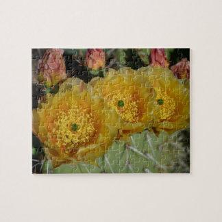 Three Yellow Cactus Flowers puzzle