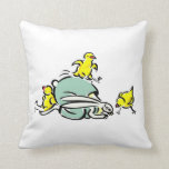 three yellow chicks dancing on weird bunny.png pillows