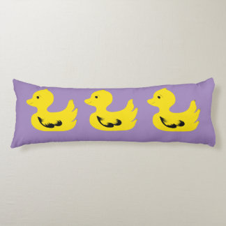 Three Yellow Ducks Custom Cotton Body Pillow