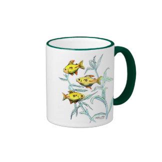 Three Yellow Fish Ring Mug