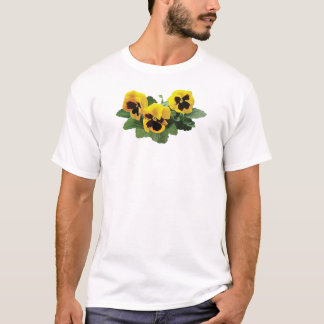 Three Yellow Pansies Mens T-Shirt