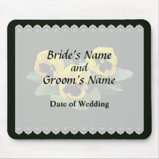 Three Yellow Pansies Wedding Favors Mouse Pad