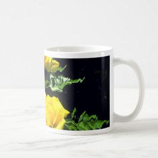 Three yellow roses coffee mugs