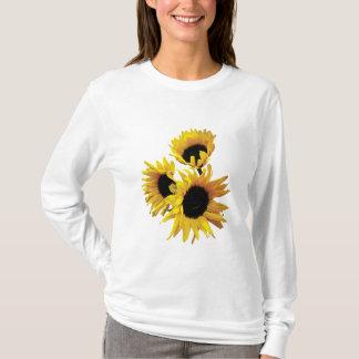 Three Yellow Sunflowers T-Shirt