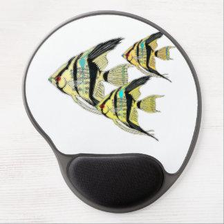 Three Yellow Tribal Angelfish Gel Mouse Pad