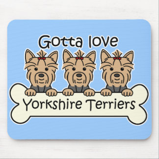 Three Yorkshire Terriers Mousepads