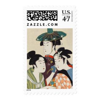 Three young kabuki actors Kitagawa, Utamaro art Postage