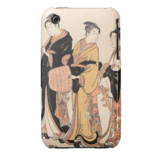 Three Young Women Masquerading as Komuso iPhone 3 Case-Mate Cases