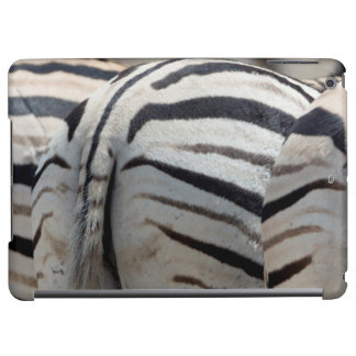 Three zebra tails and behinds iPad air case