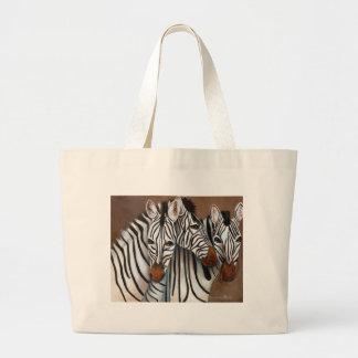 Three Zebras Canvas Bags