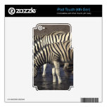 Three zebras decals for iPod touch 4G