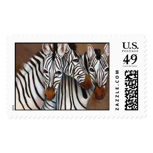 Three Zebras Stamps