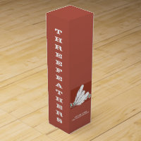 Threefeathers monogrammed wine box