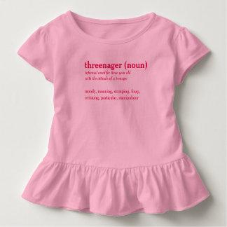 Threenager dictionary definition custom t-shirt