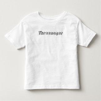 Threenager Toddler T-shirt