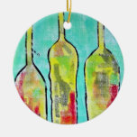 threeoclockrock Double-Sided ceramic round christmas ornament
