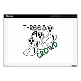 "Threes A Crowd 17"" Laptop Skin"