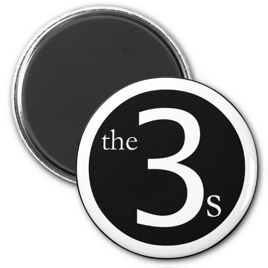 threes logo magnet