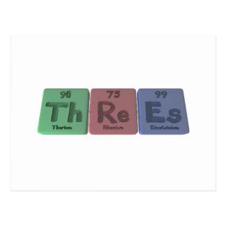 Threes-Th-Re-Es-Thorium-Rhenium-Einsteinium.png Postcard