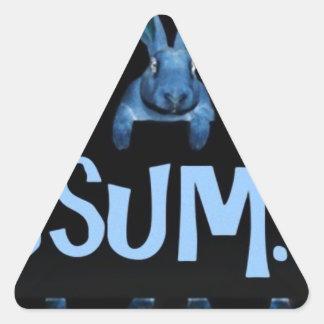 ThreeSome (Black) Triangle Sticker