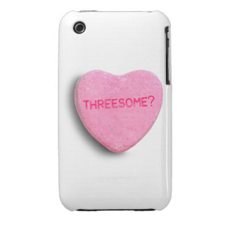 Threesome Candy Heart Case-Mate iPhone 3 Cases