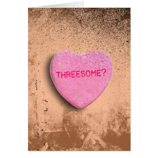 Threesome Candy Heart Greeting Card