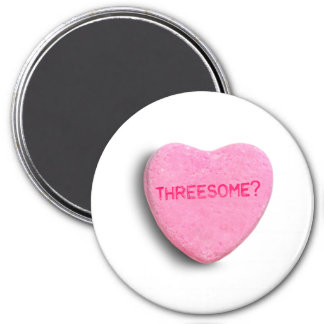 Threesome Candy Heart Magnets