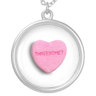 Threesome Candy Heart Custom Necklace