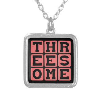 Threesome Pregnant with Twins Pendants