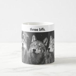 ThreeWolves, three bffs. Mugs