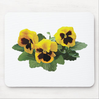 ThreeYellowPansies Mouse Pad