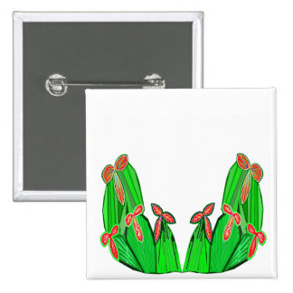 Threme Green - Exotic CACTUS Flowers Button