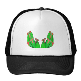 Threme Green - Exotic CACTUS Flowers Trucker Hats
