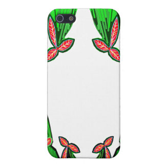 Threme Green - Exotic CACTUS Flowers Cover For iPhone 5