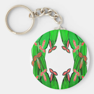 Threme Green - Exotic CACTUS Flowers Key Chain