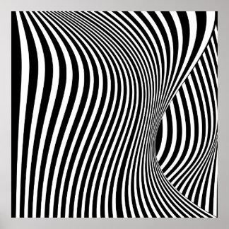Threshold - Op Art Poster