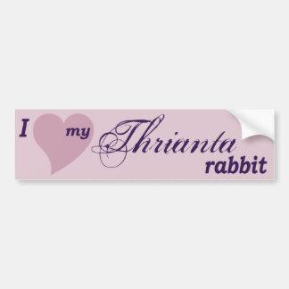 Thrianta rabbit bumper sticker
