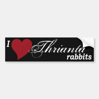Thrianta rabbits bumper sticker